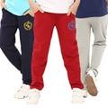Niños pantalones de algodón marca ropa de los niños lindos de la historieta varios deportes pantalones largos pantalones de los pantalones del bebé de los muchachos niños ropa grande para niños
