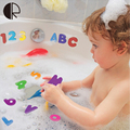 36Pcs/lot EVA Baby Bath Toys A-Z Letters 0-9 Numbers Early Educational Cognitive Floating Toy Classic Water Toy HT3522