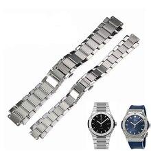 b8b078055754 Alta calidad 27mm20mm de acero inoxidable correa de reloj Hublot clásico  fusión 45mm 38 33mm reloj Correa correa de reloj