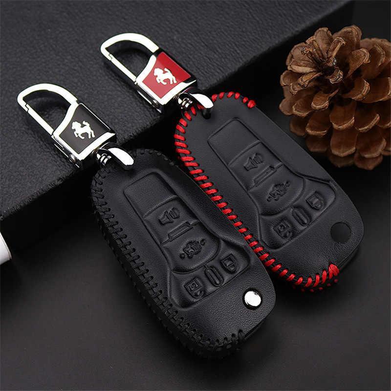 2017 New Real Leather Car Smart Key Cover Case For Ford Focus 2 3 Kuga Fiesta Mondeo MK3 MK4 MK2 Eco sport Key Chain Accessories