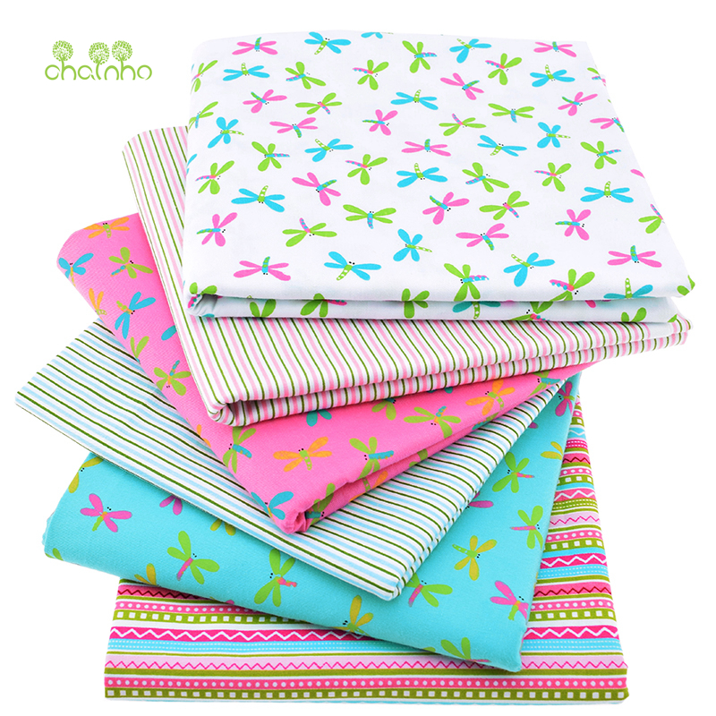 6pcs lot print twill cotton fabric for sewing doll baby for Bulk sewing material