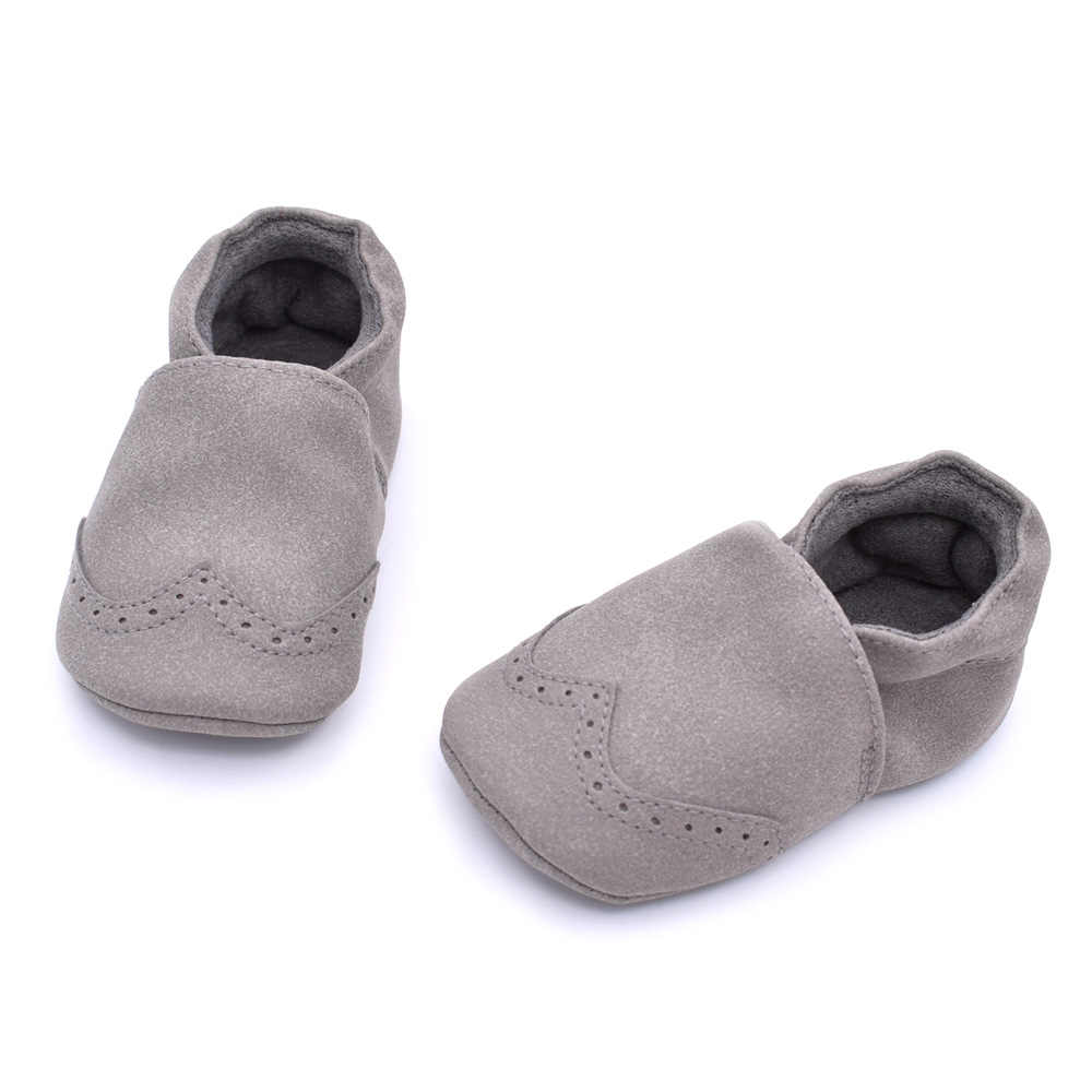 E & Bainel nuevo bebé mocasines niño zapatos de cuero de gamuza niños niñas niños preandador zapatos de suela suave antideslizante primeros caminantes