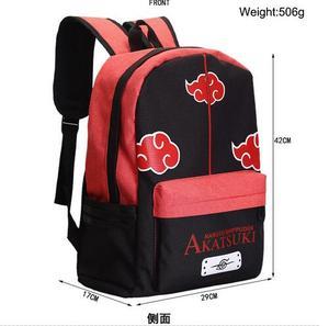 Image 2 - Anime Manga Naruto Backpack Bag Messenger Shoulder School Bag Naruto Akatsuki Cloud Symbol School Book Students Backpack