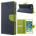 "Original Mercury Goospery Fancy Diary Case flip leather holster with Card Slot Wallet Stand for Apple iphone 7 Plus 5.5"" 5.5inch"