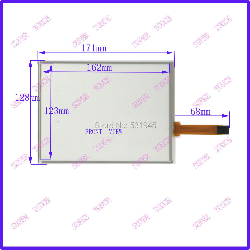 NEW 8 inch 4 wire resistive Touch Screen 171*128 for industry applications 171mm*128mm the GLASS on display