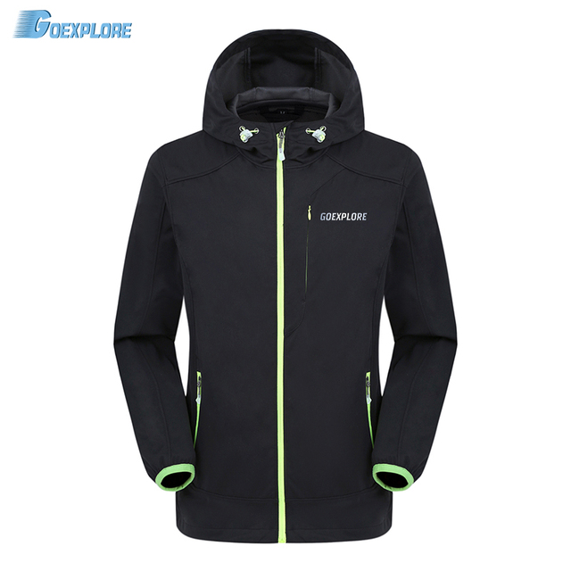 Softshell Jacket Men Waterproof Windproof Clothes Fleece Warm Spring Autumn Outdoor Camping Mountain Climbing Outwear