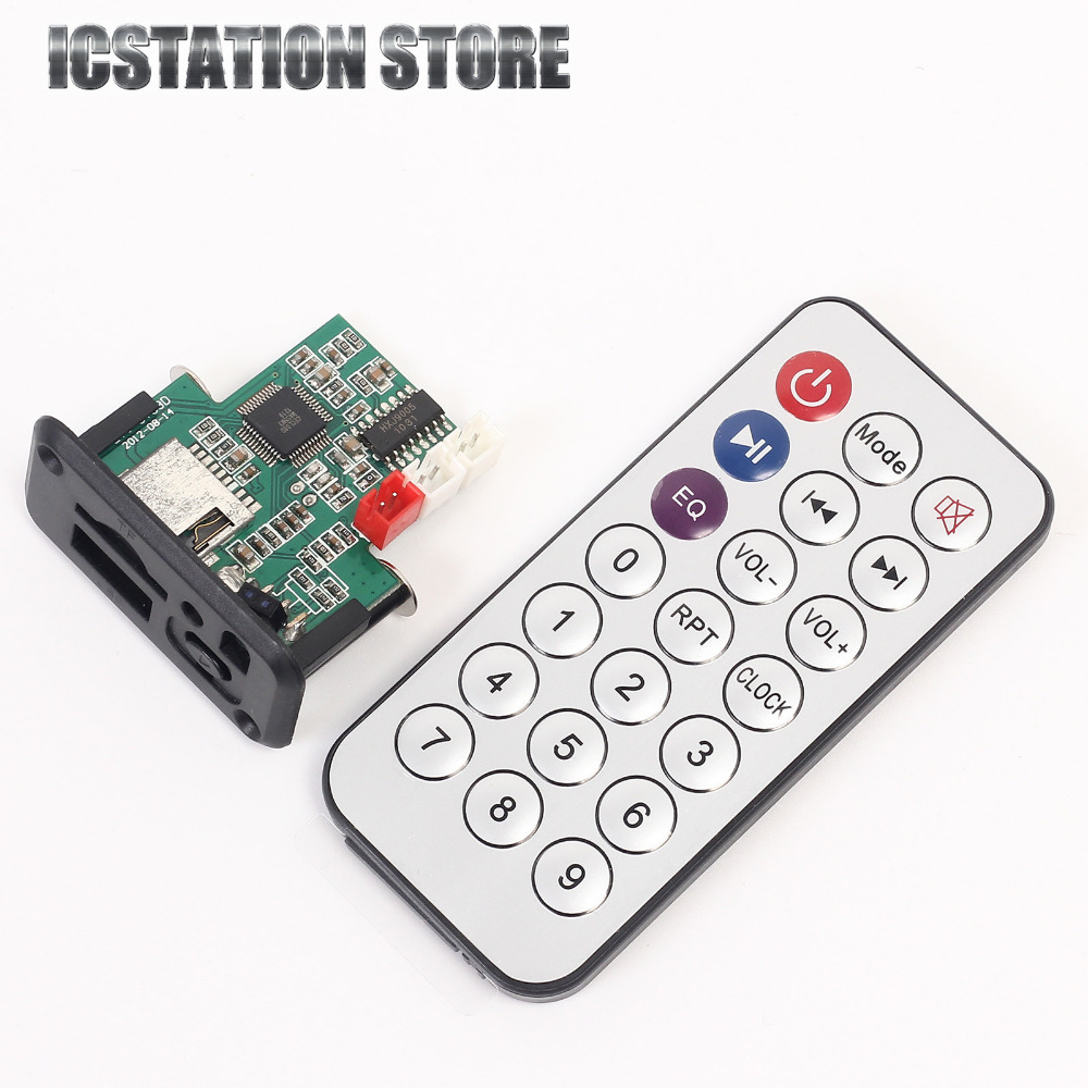 5V MP3 Decoder Board Decoding Module USB With Amplifier With Remote Controller dc 5v bluetooth audio receiver module usb tf sd card decoding board preamp output support fat32 system