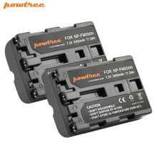 2X 2400mAh NP-FM500H NP FM500H NPFM500H FM500 Camera Battery For Sony A57 A58 A65 A77 A99 A550 A560 A580 L20