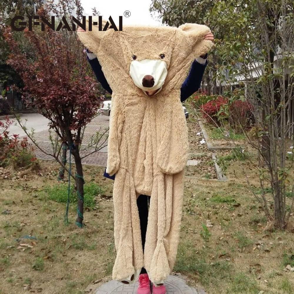 1 cái 160 cm kích thước lớn USA giant gấu da plush toy cao chất lượng Teddy Bear hull Tự điền cho trẻ em trẻ em cô gái sinh nhật quà tặng