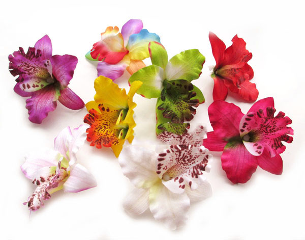 artificial flowers head Simulation butterfly orchid orchid flowers DIY decorative flower hat
