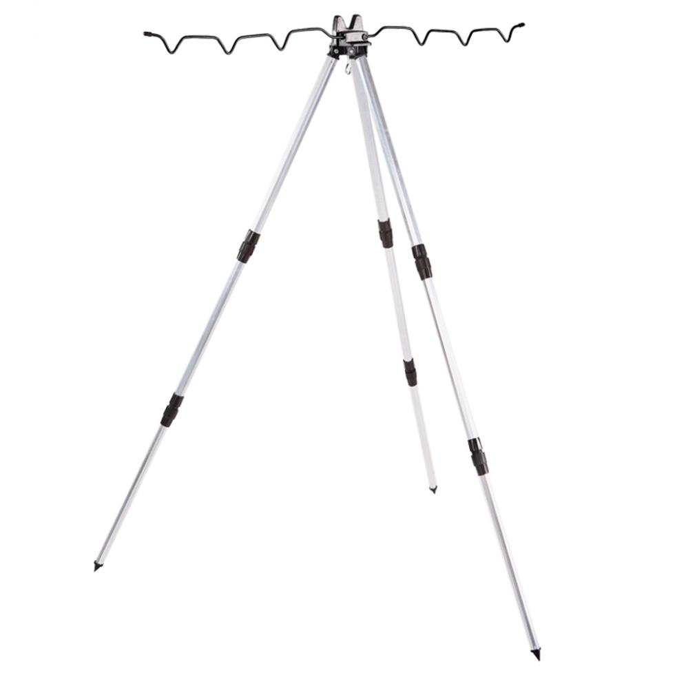 Practical Aluminum Alloy Telescopic 7 Groove Fishing Rod Holder Collapsible Tripod Stand Sea Fishing Pole Bracket