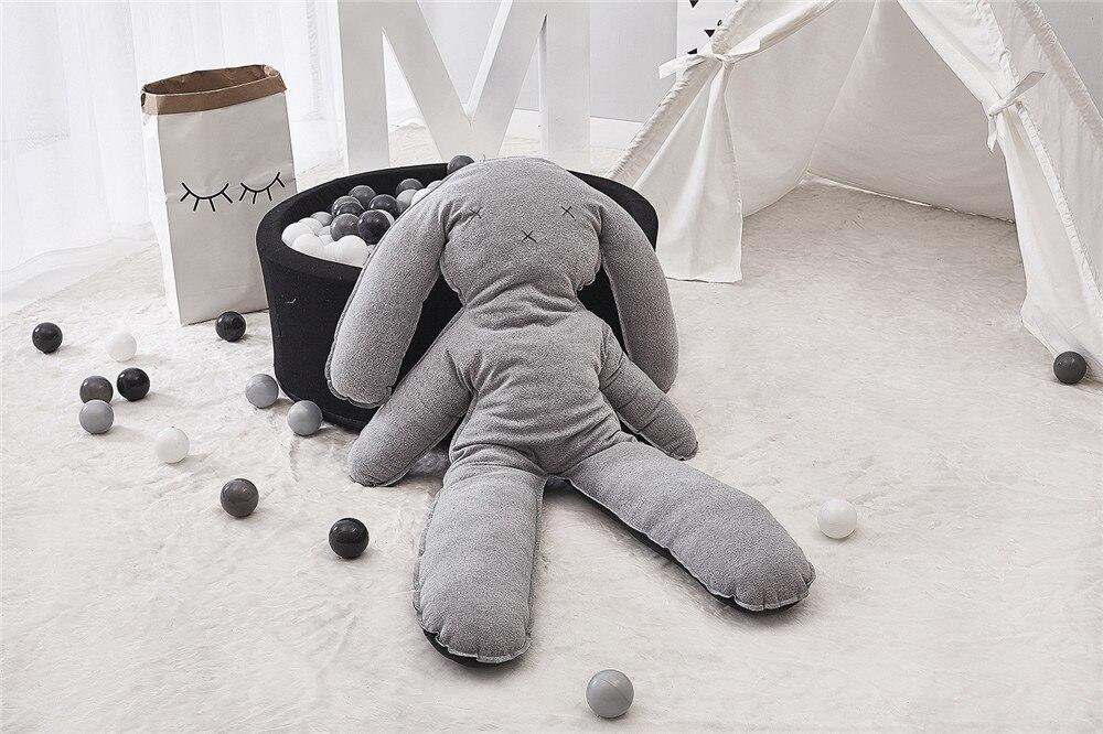 Super grand mignon peluche lapin poupée jouets en peluche bébé doux en peluche oreiller enfants lapin dormir Mate en peluche pour noël