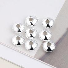 Новинка, серебряные бусины 925 пробы, изысканные круглые бусины-разделители для браслета, ожерелья, ювелирных изделий, сделай сам
