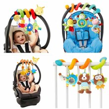 0-12 Month Animal Musical Stroller Baby Toys Spiral on Pram Bed Bell Educational Toy For Infant Children as Best Gifts