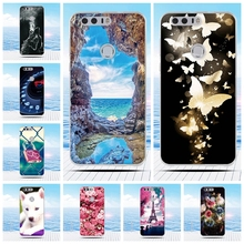 For Huawei Honor 8 Case Cartoon 3D Relief Printing Pattern Back Cover TPU Soft Silicone Case Coque Capa Funda