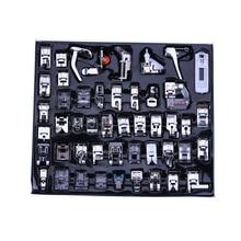 48 قطع كوى القدم قدم متعدد الوظائف آلة الخياطة المنزلية كوى القدم قدم أدوات الخياطة الصندوق الأسود