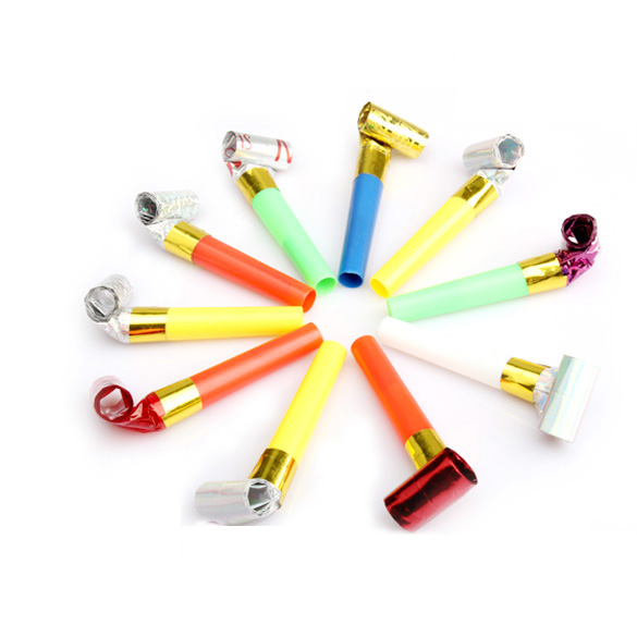 Homegard Store  10Pcs Funny Cute Blowouts Party Birthday Blow Outs Noisemakers Colors Favours      HG99