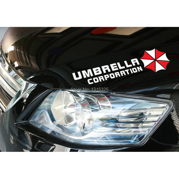 Aliauto 2 x Umbrella Corporation Car Stickers Eyebrow Lights Window Decal For BMW e46 vw Ford Focus 2 Toyota Renault Peugeot 307 image