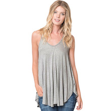 Women Sexy V Neck Cute Tank Tops Pleated Camis Sleeveless Knitted Ladies Summer Casual Loose Tops Blusas