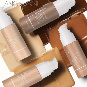 Langmanni 30ml podkład w płynie miękki matowy korektor 13 kolorów podkład podstawowy profesjonalny makijaż twarzy paleta do konturowania tanie i dobre opinie Płynna Krem nawilżający KONTROLA OLEJU Wodoodporny Mocny SENSITIVE Wybielanie BRIGHTEN odżywczy CHINA GZZZ 1 pcs 20190611