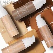 Langmanni Base líquida corrector mate suave, Base de maquillaje profesional, paleta de contorno de Base, 13 colores, 30ml