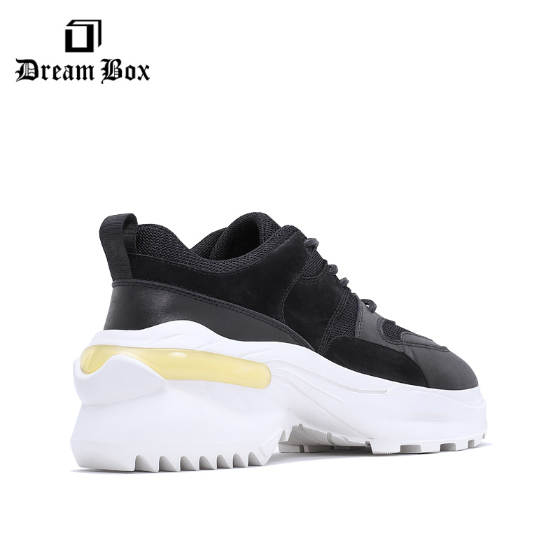 leather leisure personality shoes men sneakers platform shoes in Men 39 s Casual Shoes from Shoes