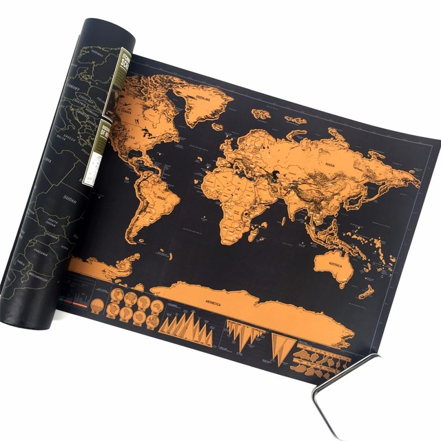 High quality scratch off map the world map black color for home high quality scratch off map the world map black color for home decoration wall art craft gumiabroncs Images