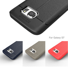 цена на Cases for Samsung Galaxy S7 Case Carbon Fibre Silicon Soft Cell Phone Protective Cover Case for Galaxy S7 edge Case Coque Fundas