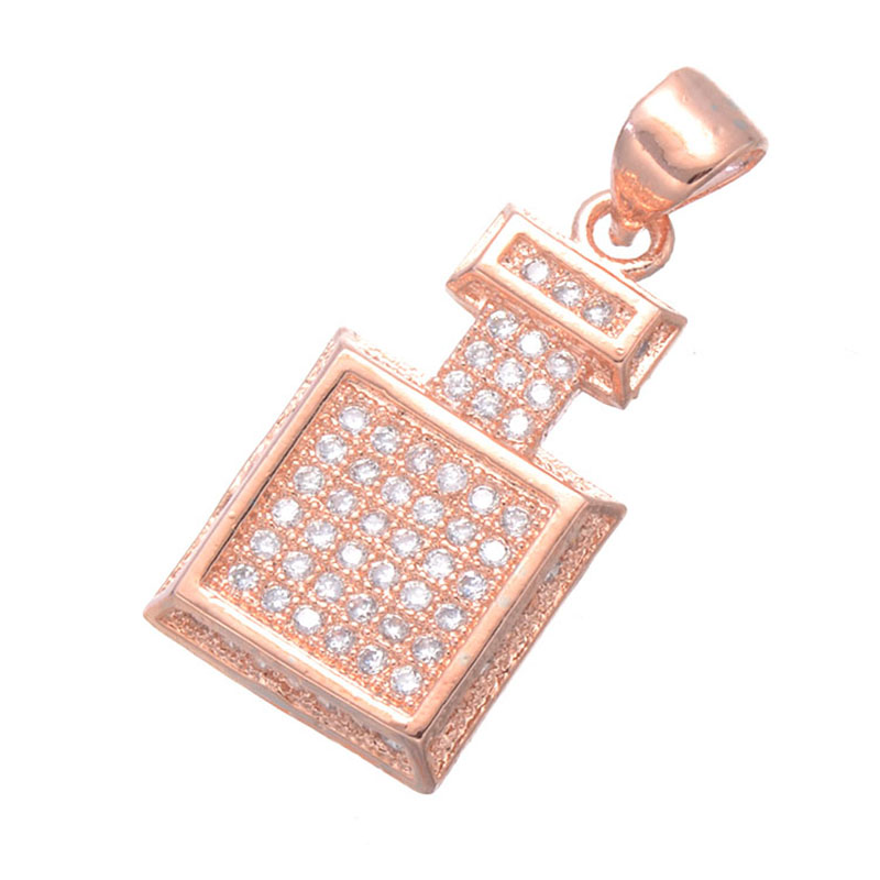 Copper micro pave jewelry vintage zircon perfume bottle floating copper micro pave jewelry vintage zircon perfume bottle floating charms for necklaces women wholesale charms pendants bijoux in charms from jewelry aloadofball Gallery