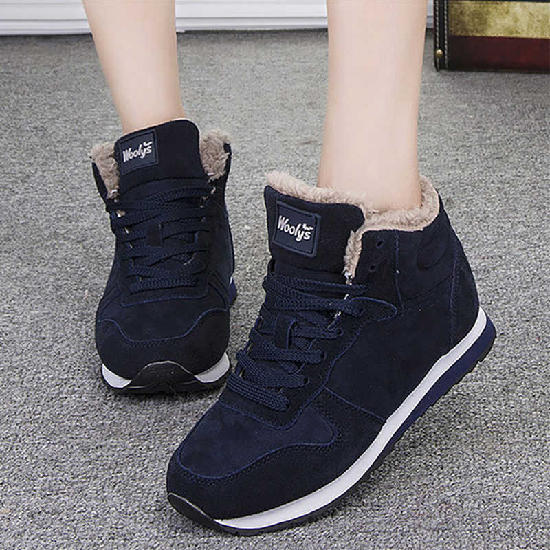 2019 New Ankle Boots For Women Winter Boots Plush Warm Snow Boots Female Winter Shoes Women Boots Comfort Women Shoes Booties