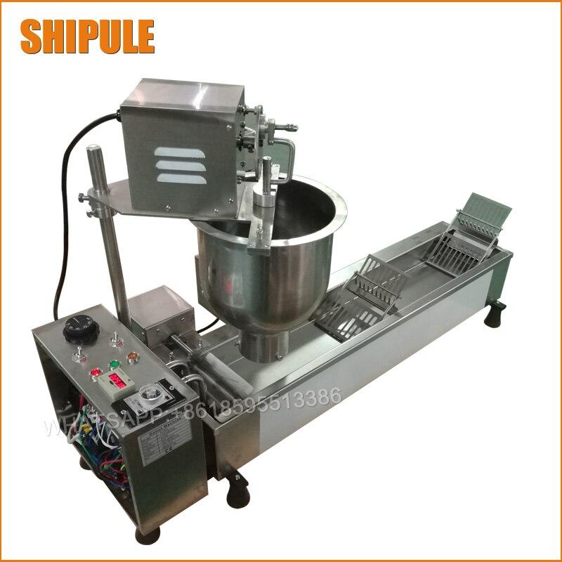 Totalmente automático multifunción máquina de donuts comercial utilizan acero inoxidable de alta calidad donut que hace la máquina