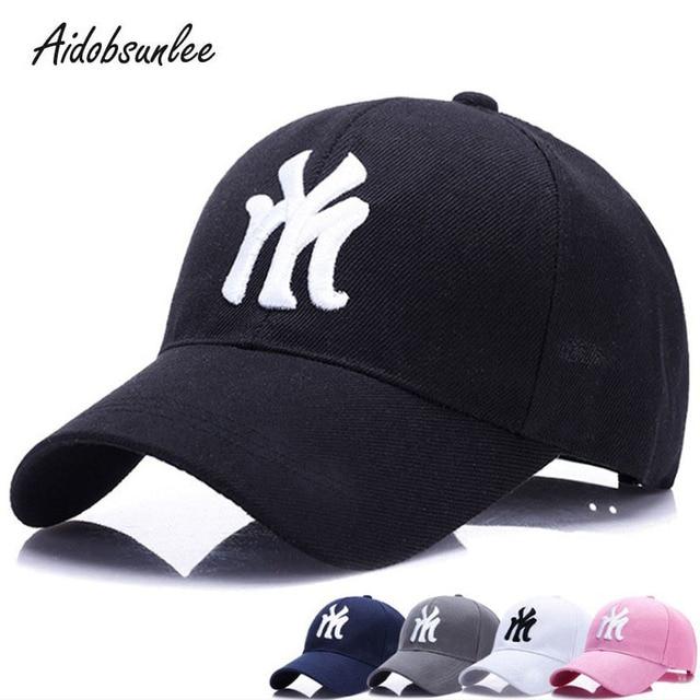 59fbbce4b5ae7 Hats For Men Women Hip Hop Baseball Cap Women Baseball Caps Snapback NY Hat  Adjustable Cap Casquette Sport Men s Bone Embroidery