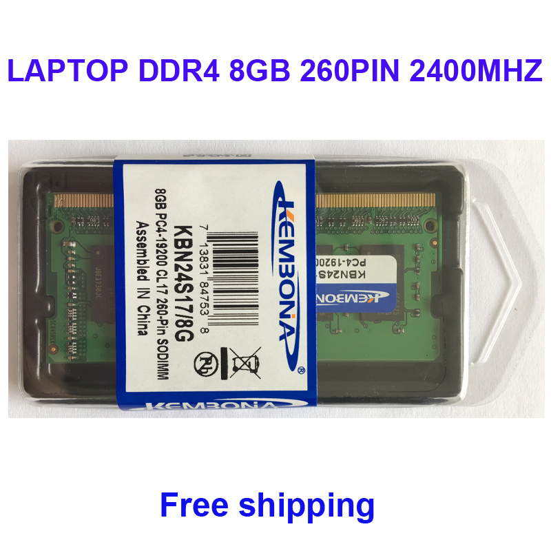 Kembona Mémoire RAM ORDINATEUR PORTABLE DDR4 8 gb 2400 mhz 8g pour Ordinateur Portable SODIMM MODULE RAM 260PIN - 2