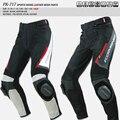 Verano KOMINE motociclismo pantalones pantalones de tela de malla Transpirable + cuero PTK-717 motocross riding pantalones resistencia a caídas