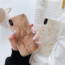 Luxury Gold Foil Bling Marble Phone Case For iPhone X XS Max XR Soft TPU Cover For iPhone 7 8 6 6s Plus Glitter Case Coque Funda цена и фото