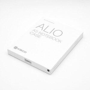 Image 3 - KACO ALIO 블랙 그레이 비즈니스 회의 선물 세트 A5 느슨한 나선형 노트북 개폐식 블랙 잉크 젤 펜 스토리지 패브릭 커버 세트