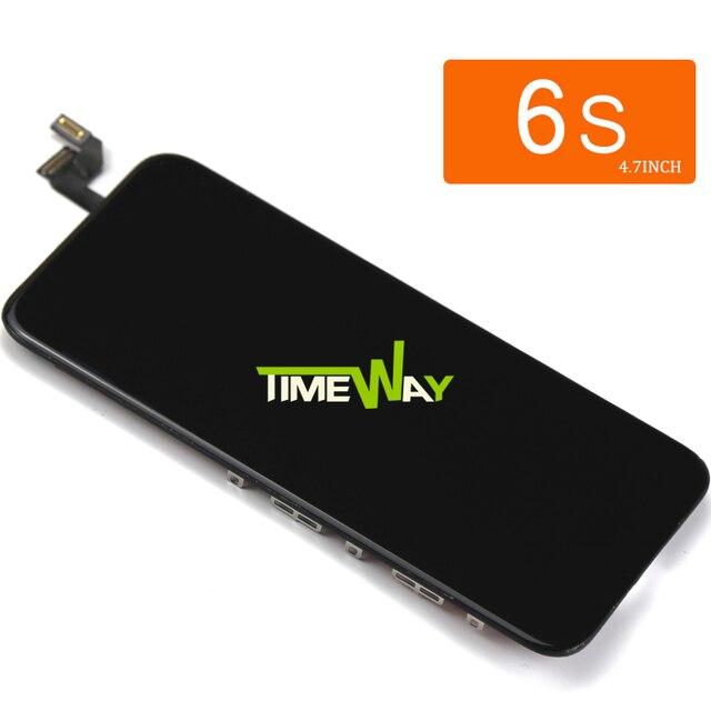 10 قطعة ل Tianma جودة آيفون 6S شاشة LCD مع اللمس محول الأرقام عرض الجمعية استبدال الأبيض والأسود حامل كاميرا
