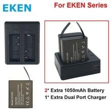 2 шт. оригинальный EKEN Батарея Зарядное устройство + двойной Зарядное устройство для EKEN H9 H9R H3 H3R H8PRO H8R H8 Pro SJCAM SJ4000 SJ5000