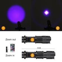 UV Flashlight Torch Light Ultra Violet Light Blacklight UV Lamp AA Battery For Marker Checker Detection SK68