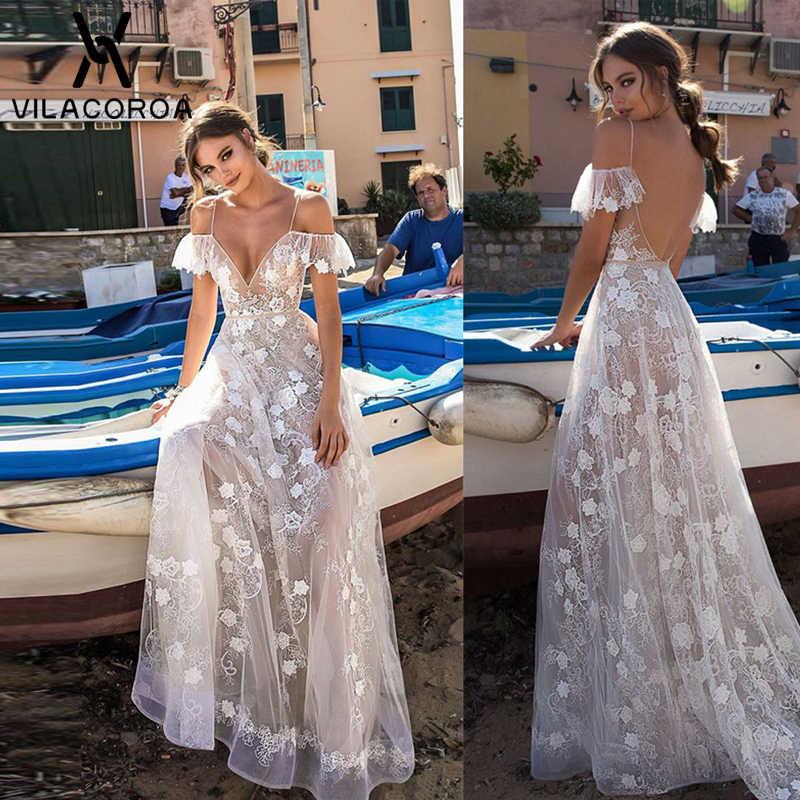 セクシーなディープ V ネック薄型スパゲティストラップ花刺繍フリル女性のドレスソリッドスリム背中のパーティー床長さのドレス