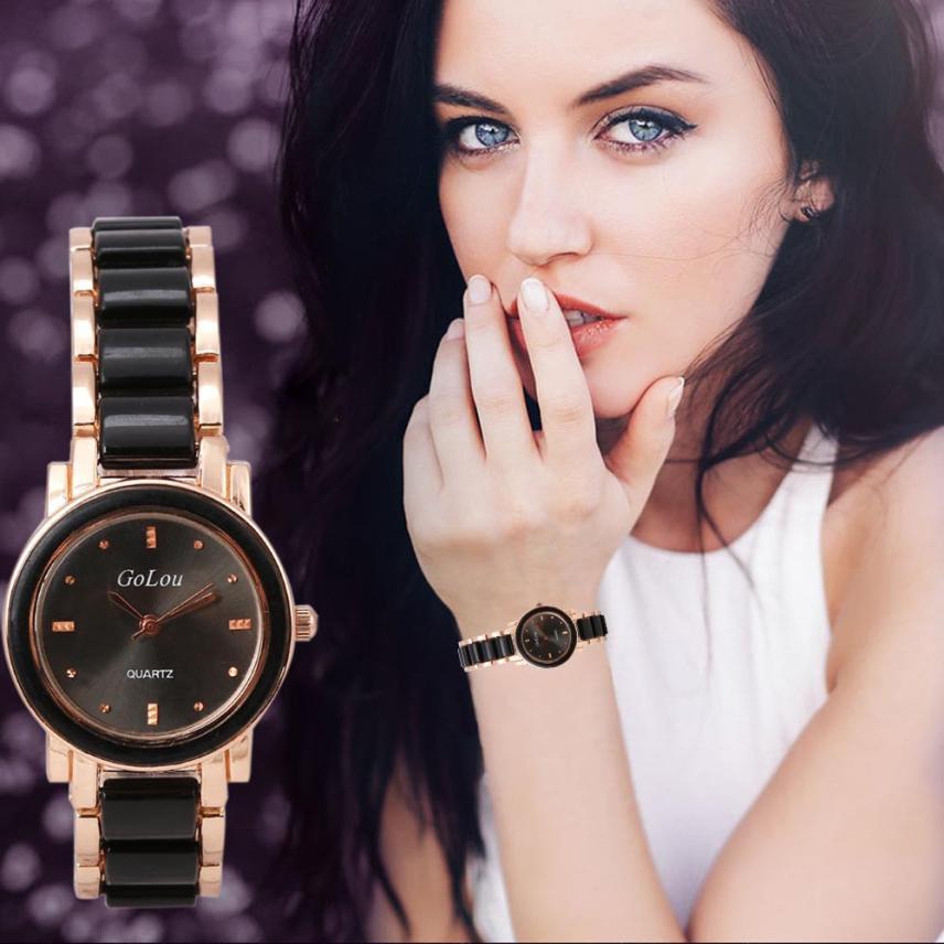Quartz Watches Watch Bracelet Wrist Quartz Women Fashion Analog Dial Ceramic Stainless Steel Relogio Feminino Hot Dropship 630