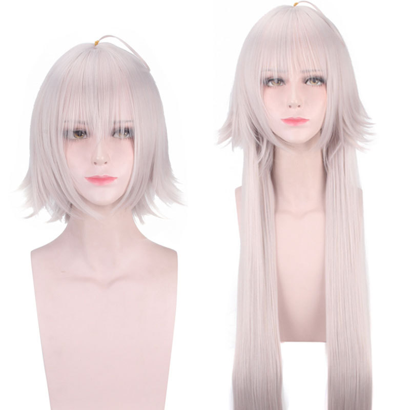 Anime Fate/Grand Order Jeanne d'Arc Alter Wig Cosplay Costume Joan of Arc Women Heat Resistant Synthetic Hair Wigs + Wig Cap