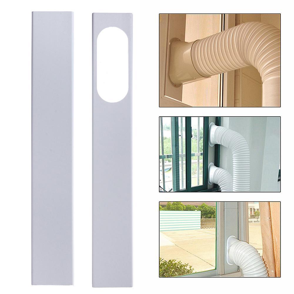 2Pcs 84-120cm Mobile Air Conditioner Universal Adjustable Window Sealing Plate Splint Baffle Airconditioner Hvac Slide Kit Plate