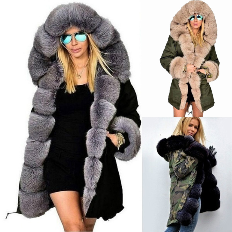 Winter Long Parka Maternity Outwear Fur Collar Hooded Coats Long Sleeve Warm Plush Coats Camouflage Print Clothes For Pregnancy батарейный модуль для ибп apc rbc116 replacement battery cartridge 116 apcrbc116