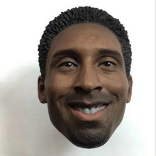 Kobe Bryant Head Sculpt Smile For 1/6 Scale Action Figure suit for Enterbay body все цены