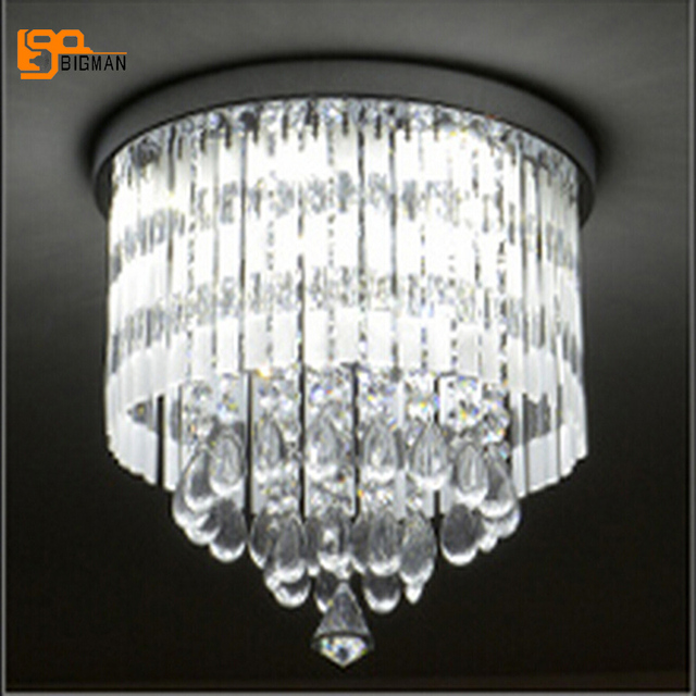 New Design Flush Mount Crystal Chandelier Modern Led Lamp Ac110v 220v Re Hallway Light Fixtures Bedroom