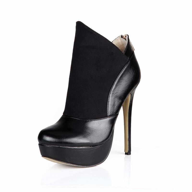 Altos Tacones Black Valentín Botas Tobillo Shoes Moda San Invierno Plataforma Mujer De Woman Mujeres Fiesta 2017 Zapatos OcpRq8O0