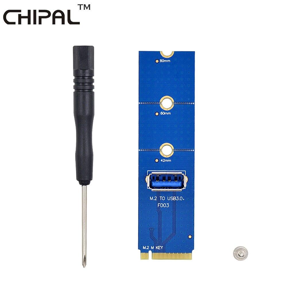 Chipal de alta velocidade ngff m.2 para usb 3.0 cartão de transferência m2 para usb3.0 adaptador para pci-e riser cartão para btc ltc eth máquina de mineração