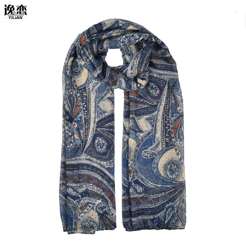 YILIAN 4 Colors Fashion Lady Scarves Printed Cashew Nuts Pattern Women Scarves SF870