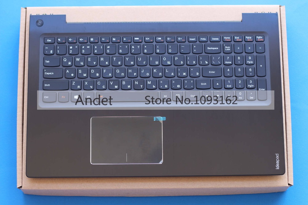 New Original Lenovo IdeaPad U530 Palmrest Keyboard Bezel Cover Touchpad with Backlit Black 90204072 new original for lenovo thinkpad t460 palmrest keyboard bezel upper case with fpr tp fingerprint touchpad 01aw302